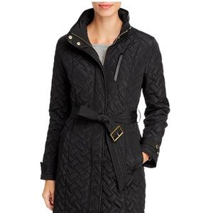 GENUINE COLE HAAN SIGNATURE QUILTED COAT BLACK S